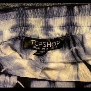 Topshop Shorts - Topshop tie dye trim shorts